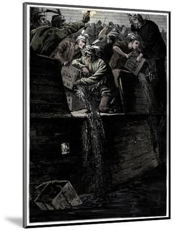 Boston Tea Party, 26 December 1773-Unknown-Mounted Giclee Print