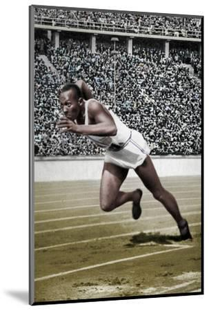 Jesse Owens at the start of the 200 metres at the Berlin Olympic Games, 1936-Unknown-Mounted Photographic Print