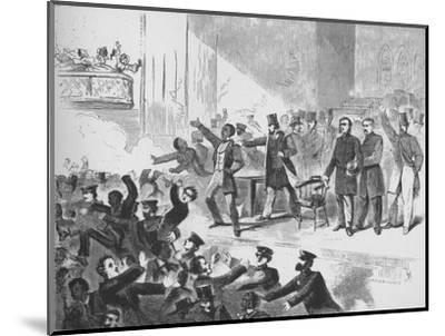 'William Lloyd Garrison trying to hold a John Brown anniversary meeting in Tremont Temple, Boston'-Unknown-Mounted Giclee Print
