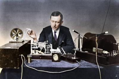 Guglielmo Marconi (1874-1937), Italian physicist and radio pioneer-Unknown-Framed Photographic Print