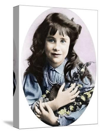 The Queen Mother at seven years old, 1907 (1937)-Unknown-Stretched Canvas Print