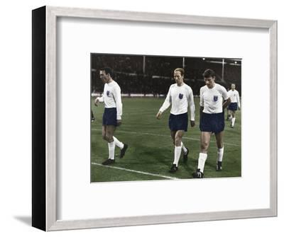 England vs Mexico during the 1966 World Cup, Wembley Stadium, London, 1966-Unknown-Framed Photographic Print