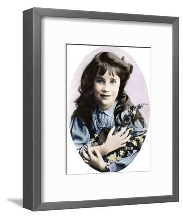 The Queen Mother at seven years old, 1907 (1937)-Unknown-Framed Photographic Print