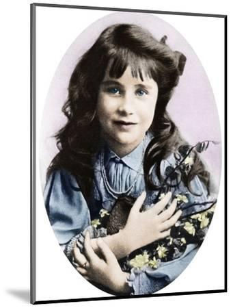 The Queen Mother at seven years old, 1907 (1937)-Unknown-Mounted Photographic Print