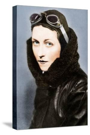 Amy Johnson, pilot, c1930s (1936)-Unknown-Stretched Canvas Print