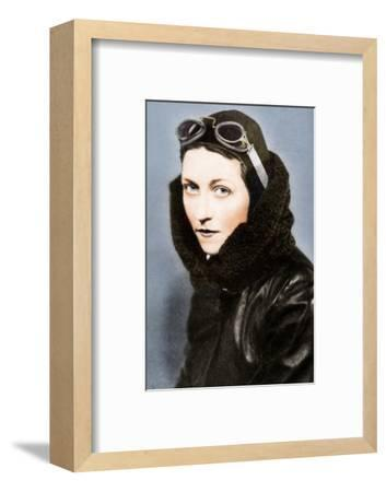 Amy Johnson, pilot, c1930s (1936)-Unknown-Framed Photographic Print