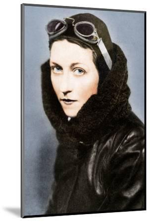 Amy Johnson, pilot, c1930s (1936)-Unknown-Mounted Photographic Print