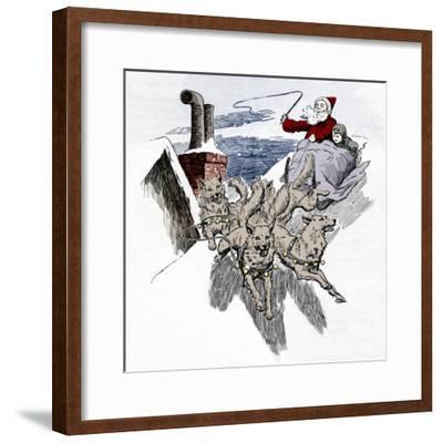 'Off They Whirled At A Pace That Took Bobbie's Breath Away', 1901-Unknown-Framed Giclee Print