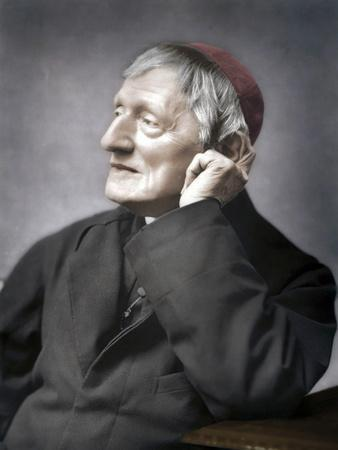 John Henry Newman, British cardinal, late 19th century-Unknown-Framed Photographic Print