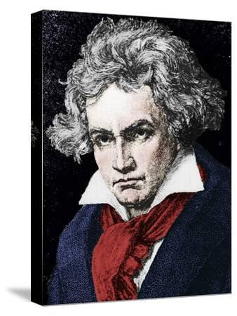 Ludwig van Beethoven (1770-1827), German composer and pianist, 19th century-Unknown-Stretched Canvas Print