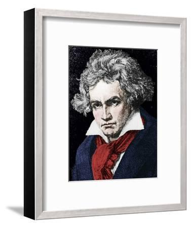 Ludwig van Beethoven (1770-1827), German composer and pianist, 19th century-Unknown-Framed Giclee Print