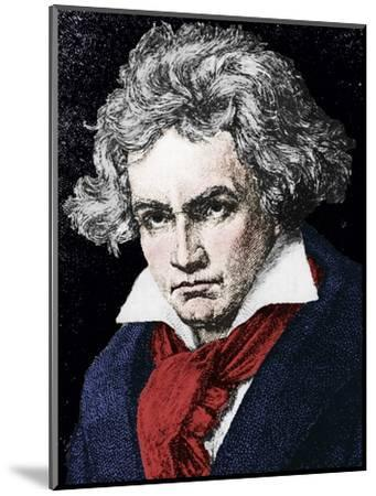 Ludwig van Beethoven (1770-1827), German composer and pianist, 19th century-Unknown-Mounted Giclee Print
