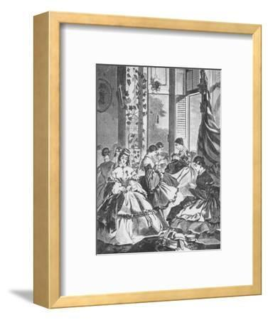 'Role of Women in the War', 1861, (1938)-Unknown-Framed Giclee Print