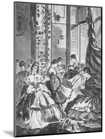 'Role of Women in the War', 1861, (1938)-Unknown-Mounted Giclee Print