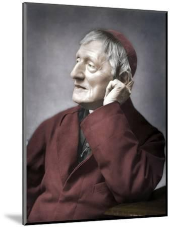 John Henry Newman, British cardinal, late 19th century-Unknown-Mounted Photographic Print