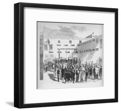 'Execution of slave trader Nathaniel Gordon in the Tombs prison in New York', 1862', (1938)-Unknown-Framed Giclee Print