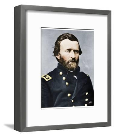 General Ulysses S Grant, American soldier and politician, c1860s (1955)-Unknown-Framed Photographic Print