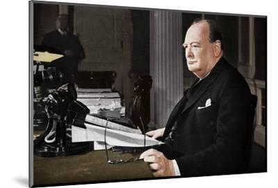 'Mr. Churchill's V.E. Day Broadcast', 1945 (1955)-Unknown-Mounted Photographic Print