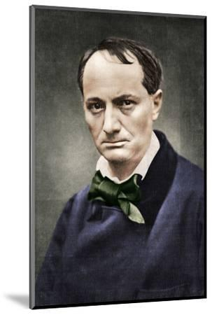Charles Baudelaire, influential French poet, critic and translator, mid-19th century-Unknown-Mounted Photographic Print