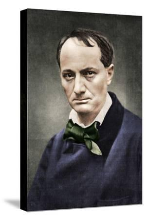 Charles Baudelaire, influential French poet, critic and translator, mid-19th century-Unknown-Stretched Canvas Print