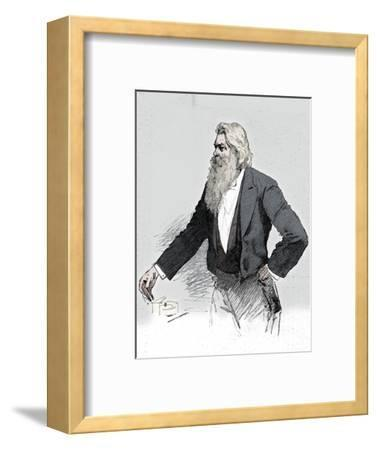 Joseph Wilson Swan, British physicist and chemist, demonstrating electromagnetism, 1889-Unknown-Framed Giclee Print