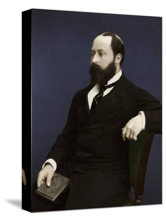 Edward VII (then Prince of Wales), 1876-Unknown-Stretched Canvas Print