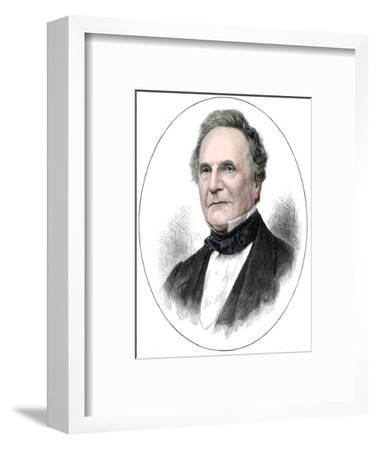 Charles Babbage (1791-1871) English mathematician and pioneer of computing, 1871-Unknown-Framed Giclee Print