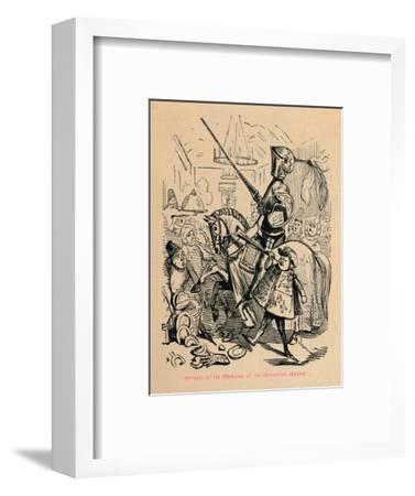 'Entrance of the Champion, at the Coronation Banquet', c1860, (c1860)-John Leech-Framed Giclee Print