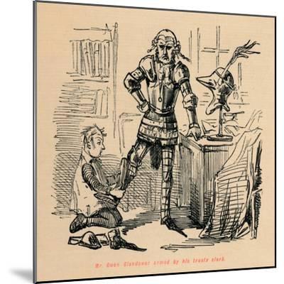 'Mr. Owen Glendower armed by his trusty clerk', c1860, (c1860)-John Leech-Mounted Giclee Print