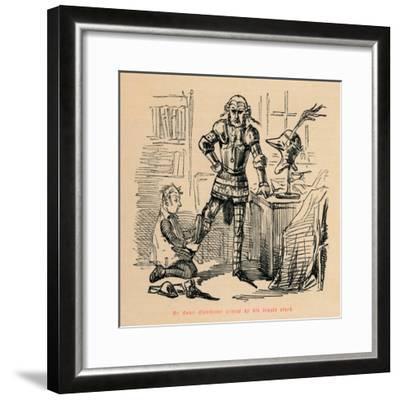 'Mr. Owen Glendower armed by his trusty clerk', c1860, (c1860)-John Leech-Framed Giclee Print