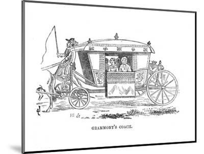 'Grammont's Coach', c1870-Unknown-Mounted Giclee Print