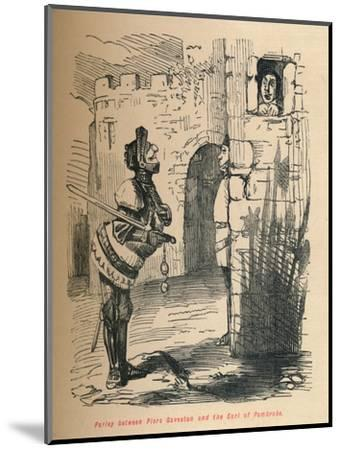 'Parley between Piers Gaveston and the Earl of Pembroke.', c1860, (c1860)-John Leech-Mounted Giclee Print