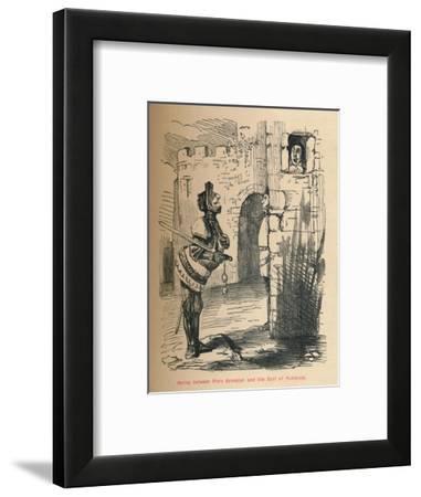 'Parley between Piers Gaveston and the Earl of Pembroke.', c1860, (c1860)-John Leech-Framed Giclee Print