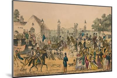 'Hyde Park Corner, 1825', c1870-Unknown-Mounted Giclee Print