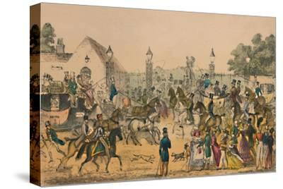 'Hyde Park Corner, 1825', c1870-Unknown-Stretched Canvas Print