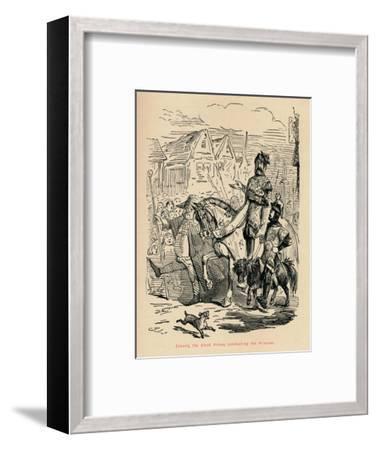'Edward the Black Prince, conducting his Prisoner', c1860, (c1860)-John Leech-Framed Giclee Print