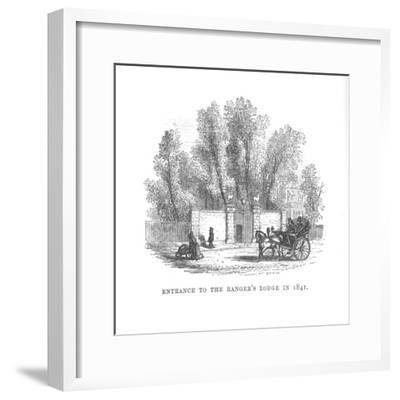 'Entrance to the Ranger's Lodge in 1841', c1870-Unknown-Framed Giclee Print
