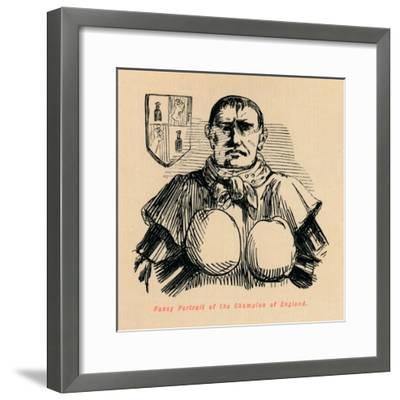 'Fancy Portrait of the Champion of England', c1860, (c1860)-John Leech-Framed Giclee Print