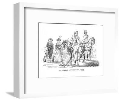 'An Airing in the Park, 1793', c1870-Unknown-Framed Giclee Print