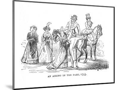 'An Airing in the Park, 1793', c1870-Unknown-Mounted Giclee Print