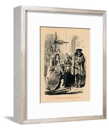 'The Citizens offering the Crown to Richard',-John Leech-Framed Giclee Print