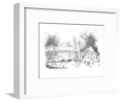 'Rosamond's Pond in 1740', c1870-Unknown-Framed Giclee Print