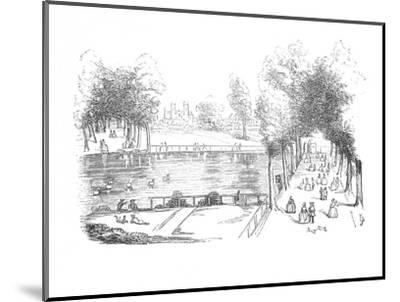 'Rosamond's Pond in 1740', c1870-Unknown-Mounted Giclee Print