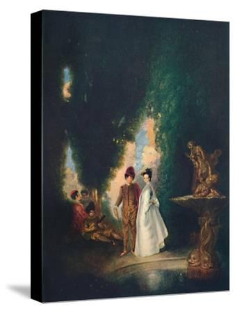 'The Fountain', c18th century, (1911)-Jean-Antoine Watteau-Stretched Canvas Print