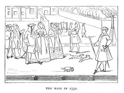 'The Mall in 1732', c1870-Unknown-Framed Giclee Print