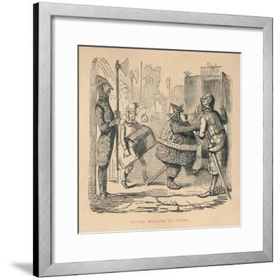 'William departing for France', c1860, (c1860)-John Leech-Framed Giclee Print