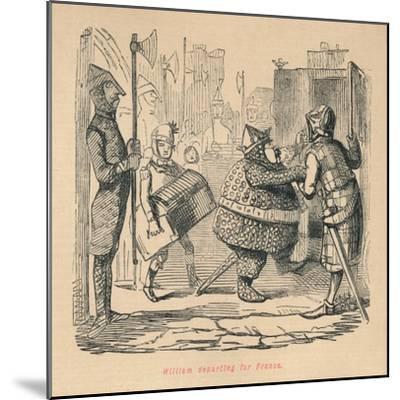 'William departing for France', c1860, (c1860)-John Leech-Mounted Giclee Print