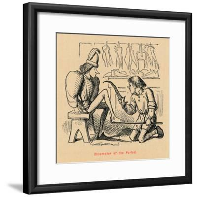 'Shoemaker of the Period',-John Leech-Framed Giclee Print