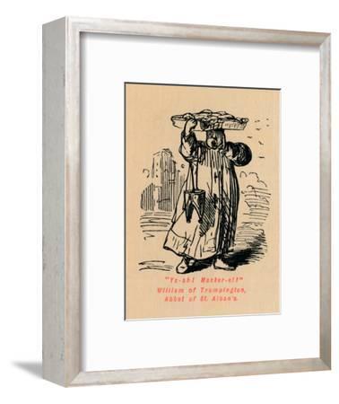 'Ya-ah! Macker-el! William of Trumpington, Abbot of St. Alban's',-John Leech-Framed Giclee Print