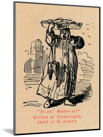 'Ya-ah! Macker-el! William of Trumpington, Abbot of St. Alban's',-John Leech-Mounted Giclee Print